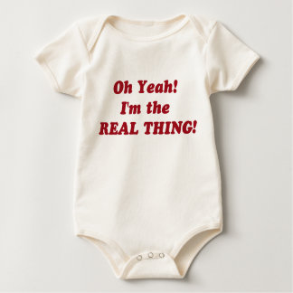 the real thing! baby bodysuit