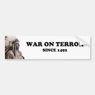 The Real War On Terror Bumper Sticker