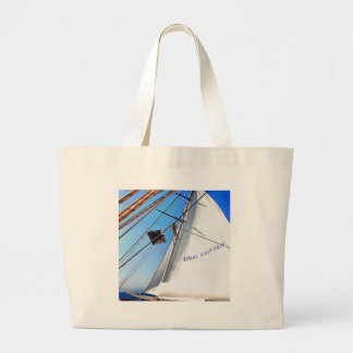 The Realist Adjusts The Sails pill Large Tote Bag