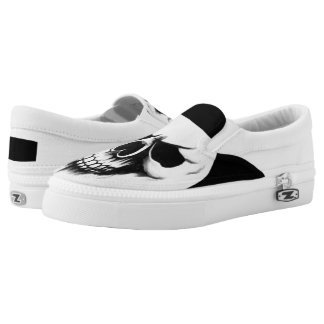 The reaper skull womens slip on printed shoes