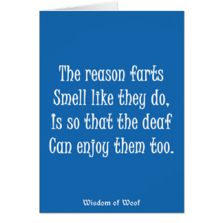 The Reason Farts Smell Like They Do Card