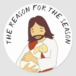 The Reason for the Season Jesus Christmas Stickers