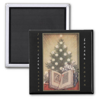 The Reason For The Season Square Magnet