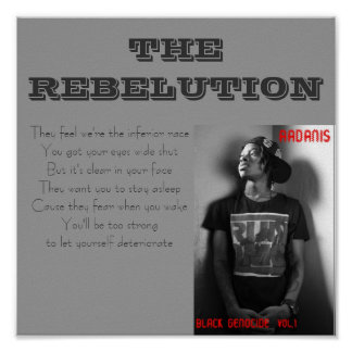 The Rebelution Lyric Poster: Small Poster