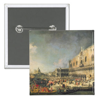 The Reception of the French Ambassador in Venice, 15 Cm Square Badge