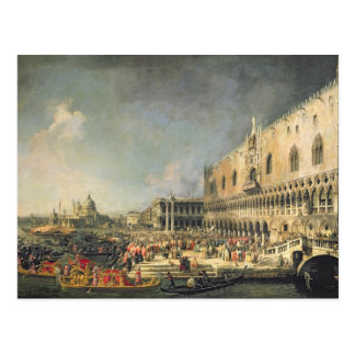 The Reception of the French Ambassador in Venice, Postcard
