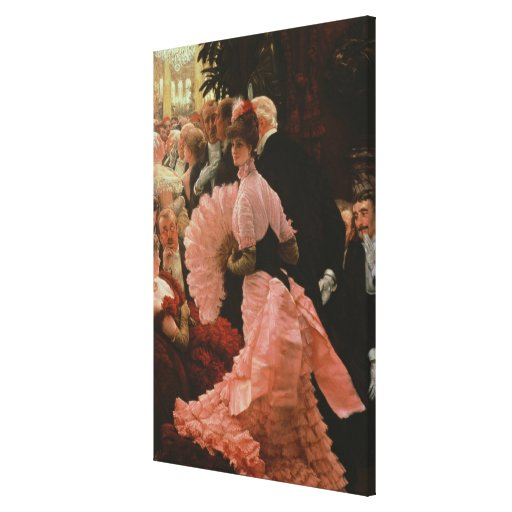The Reception or, L'Ambitieuse (Political Woman) c Stretched Canvas Print