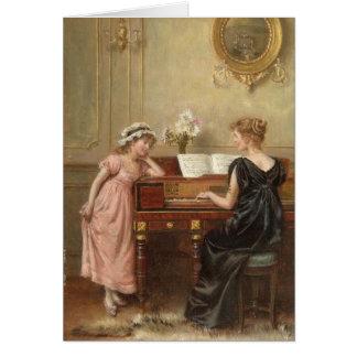 The Recital, by George Goodwin Kilburne Card