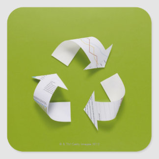 The recycling mark made from the data of paper sticker