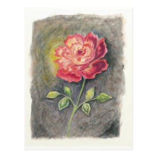 The Red And Yellow Rose Art Cards Postcard