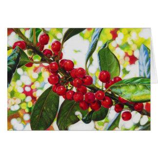 The Red Berries art print Greeting Card