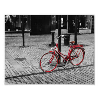 The red bicycle photo print
