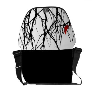 The Red Bird by Leslie Peppers Courier Bags