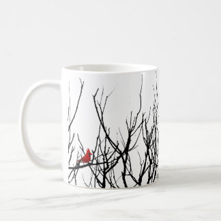 The Red Bird by Leslie Peppers Coffee Mugs