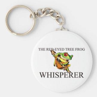The Red-Eyed Tree Frog Whisperer Key Ring