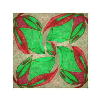 the red flower in bloom canvas print