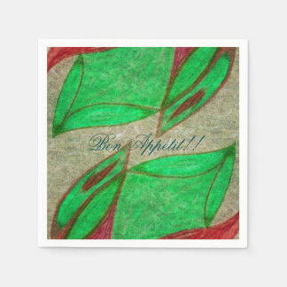 the red flower in bloom paper napkins