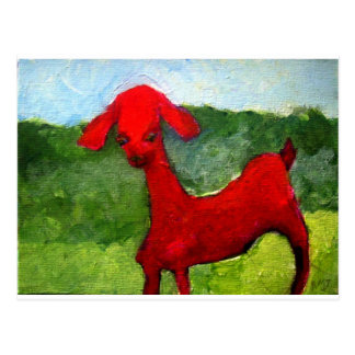 the red goat postcard