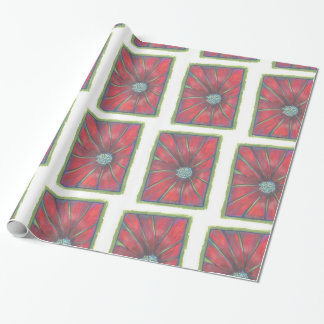 The Red Holiday Flower Wrapping Paper
