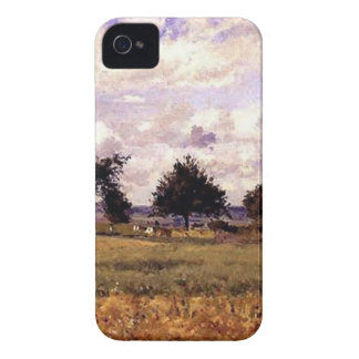 The Red House by Camille Pissarro iPhone 4 Case-Mate Cases