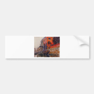 The Red House by Claude Monet Bumper Sticker