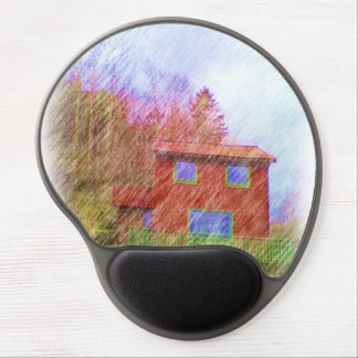The red house gel mouse pad
