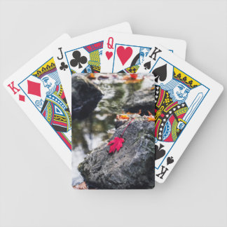 The Red Leaf Bicycle Playing Cards