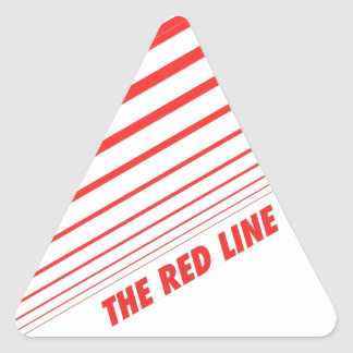 The red line. triangle sticker