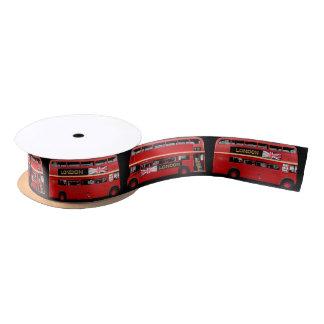 The Red London Bus Satin Ribbon