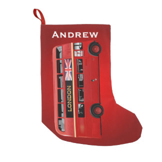 The Red London Bus Small Christmas Stocking