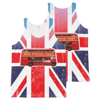 The Red London Double Decker Bus All-Over Print Singlet