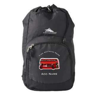 The Red London Double Decker Bus Backpack