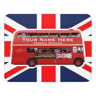 The Red London Double Decker Bus Door Sign