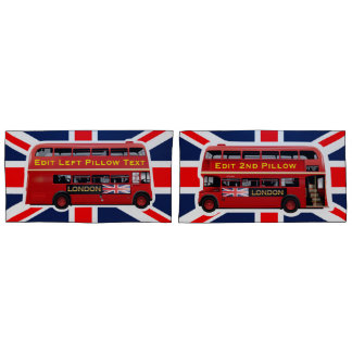 The Red London Double Decker Bus Pillowcase