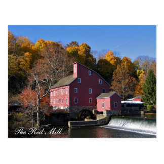 The Red Mill Autumn Postcard