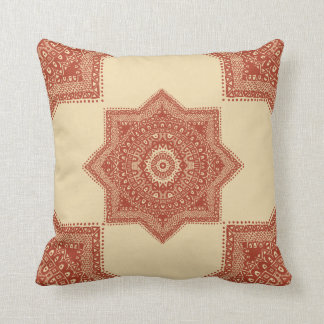 The Red Moroccan Pattern Cushion