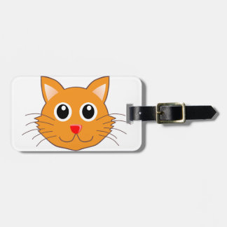 The Red-Nosed Orange Cat Luggage Tag