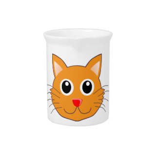 The Red-Nosed Orange Cat Pitcher