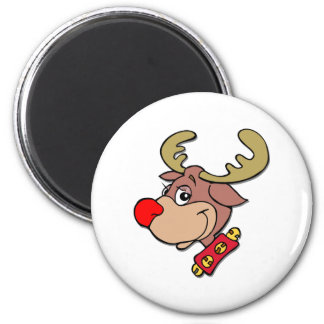 the Red Nosed Reindeer 6 Cm Round Magnet