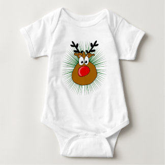 the Red Nosed Reindeer Baby Bodysuit