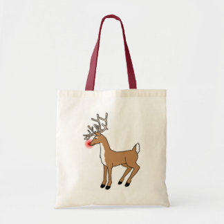 The Red Nosed Reindeer Budget Tote Bag