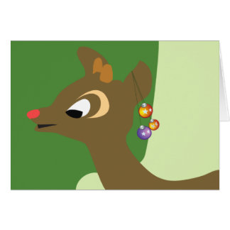 - the red nosed reindeer card