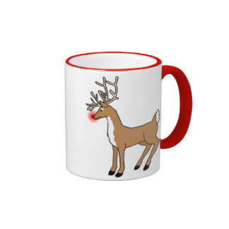 The Red Nosed Reindeer Ringer Coffee Mug