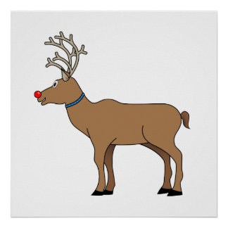 The Red Nosed Reindeer Poster