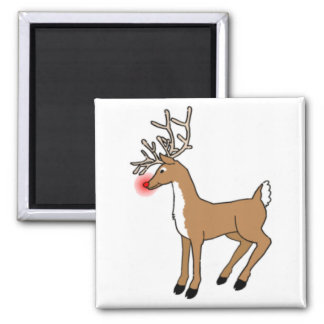 The Red Nosed Reindeer Square Magnet