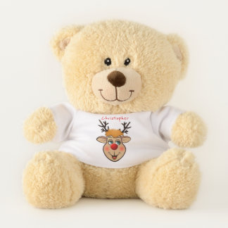 The Red-Nosed Rudolph Teddy Bear