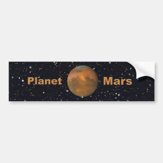 The Red Planet Mars Starry Sky Bumper Sticker