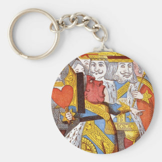 The Red Queen Basic Round Button Key Ring