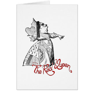 The Red Queen Note Card