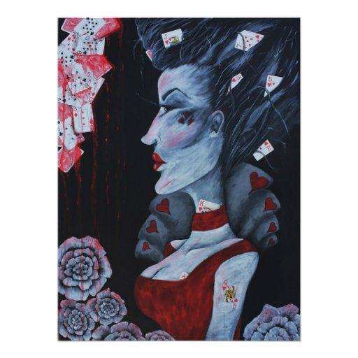 The Red Queen Original Art Wonderland Photo Print